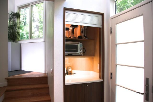 Appliance garage open Contemporary Kitchen Other