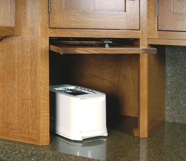 Appliance Garage With Flip Up Retracting Door Craftsman Kitchen