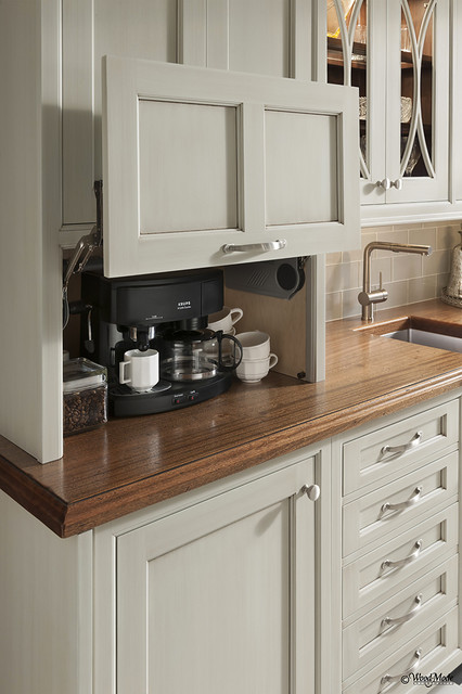 Appliance Lift Cabinet - Traditional - Kitchen - Houston - by ...