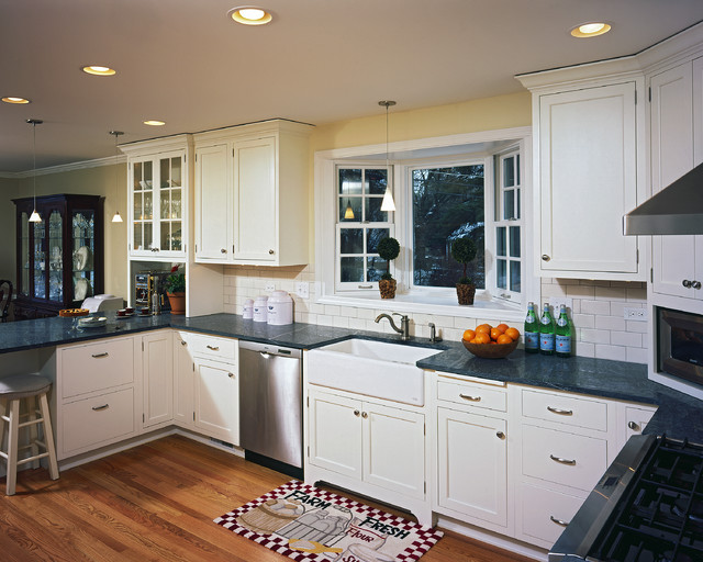 Apron sink traditional kitchen