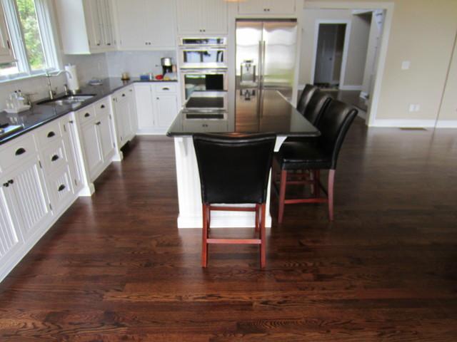 Aquebogue New Construction 3 14 Red Oak Installed