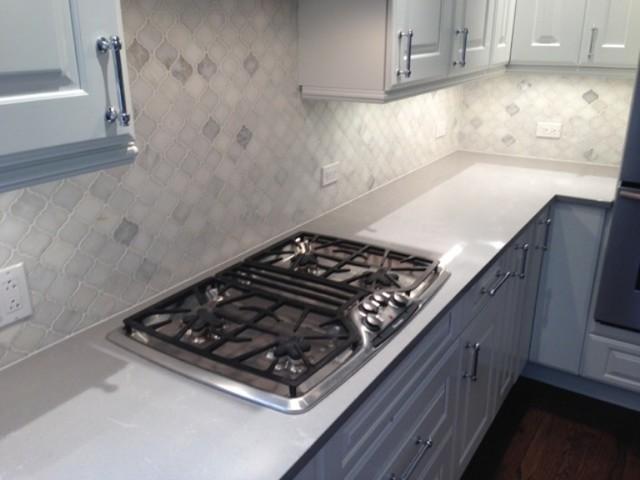 arabesque tile kitchen backsplash modern kitchen chicago by