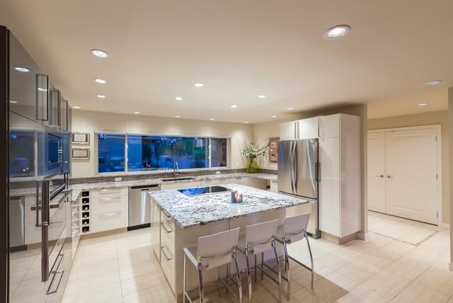 Arbutus Lodge Lake House contemporary-kitchen