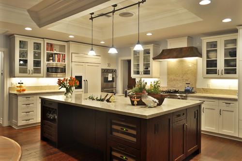 White Kitchen Dark Island white kitchen cabinets » white kitchen cabinets with different
