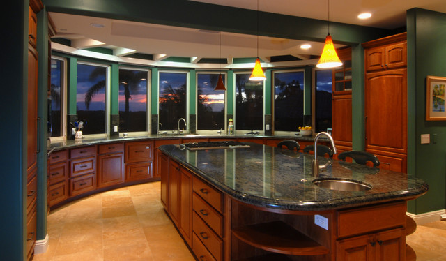 Arched Kitchen With San Diego Sunset Traditional