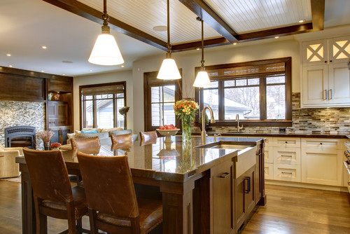 Craftsman kitchen by calgary home builders rockwood custom homes