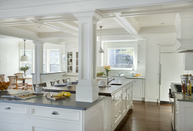 Architectural kitchen traditional kitchen boston for Christopher peacock kitchen cabinets