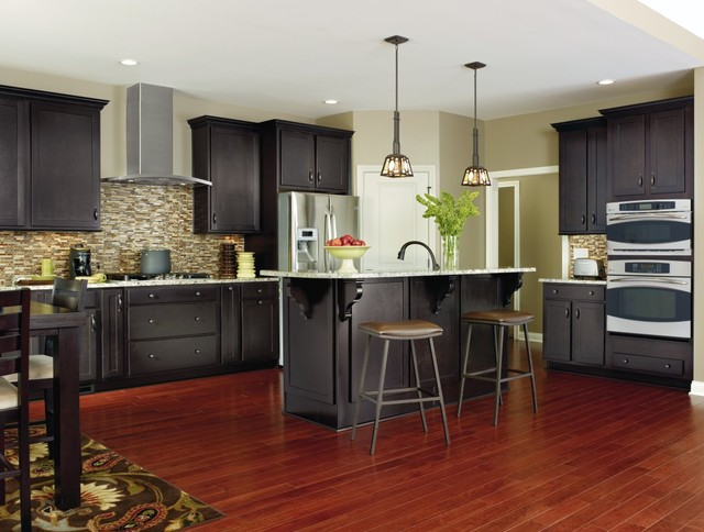 Aristokraft Cabinetry Dark Grey Kitchen Cabinets Transitional