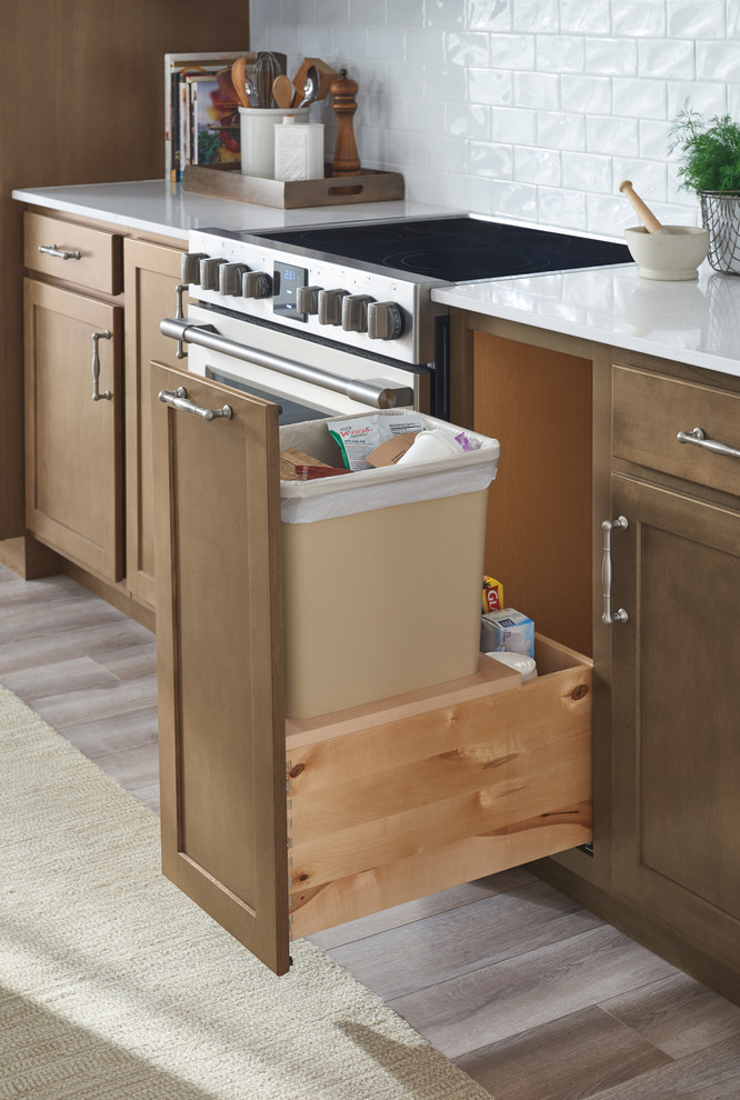 Aristokraft Cabinetry Trash Bin Cabinet Pull Out Farmhouse Kitchen Other By Masterbrand Cabinets Inc Houzz