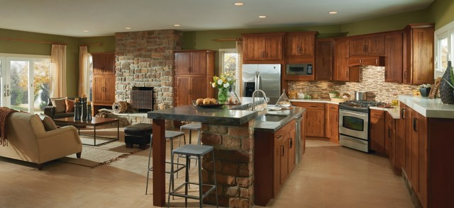 Aristokraft Harrison Kitchen Cabinets - Rustic - Kitchen - Other ...