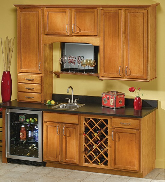 Aristokraft Sinclair Home Bar Cabinets Transitional Kitchen