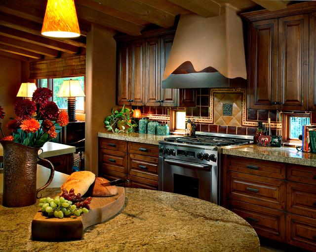 Arizona country club phoenix rustic kitchen phoenix by linda seeger interior design for Interior decorators phoenix az