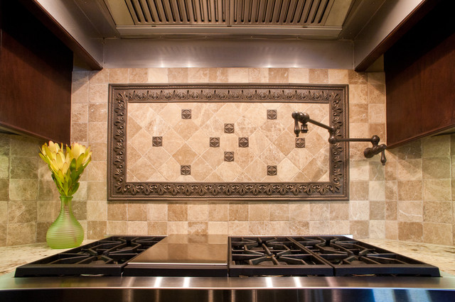 Potfiller And Picture Frame Traditional Kitchen