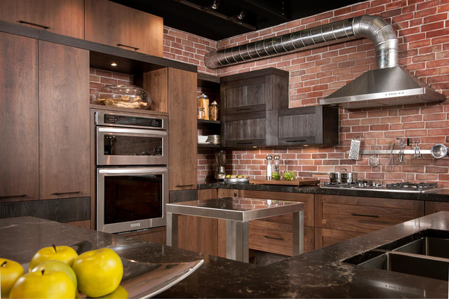 Armoires de cuisine style loft/industriel - Industrial - Kitchen ...