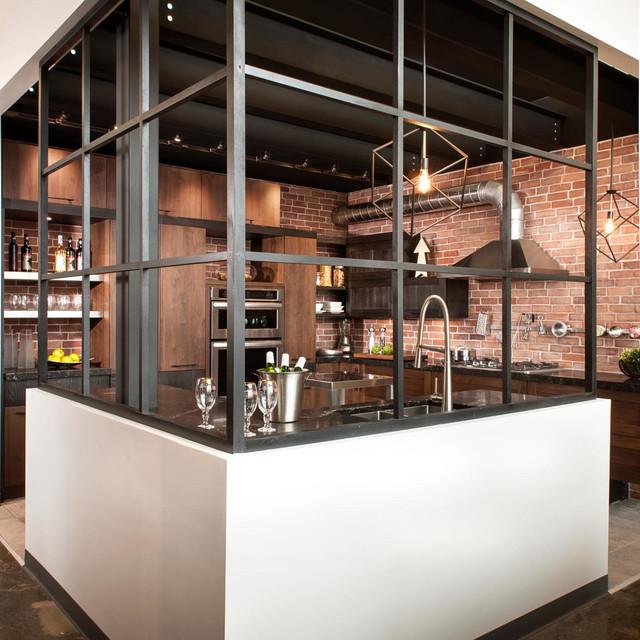 armoires de cuisine style loftindustriel industrial kitchen