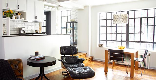 Art-Deco apartment combination/renovation transitional-kitchen