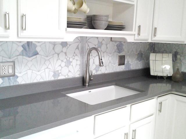 Art Deco Kitchen Backsplash Contemporary New York By 112 Glass House Houzz