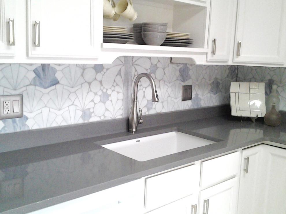 Art Deco Kitchen Backsplash Contemporary Kitchen New York By 112 Glass House