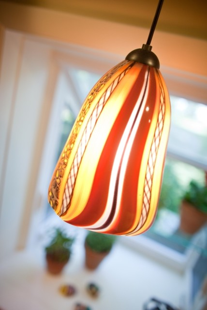 Art glass pendant in kitchen - Kitchen - dc metro - by Meredith ...