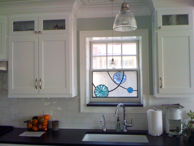 Art Glass Windows Modern Kitchen Chicago By Morava