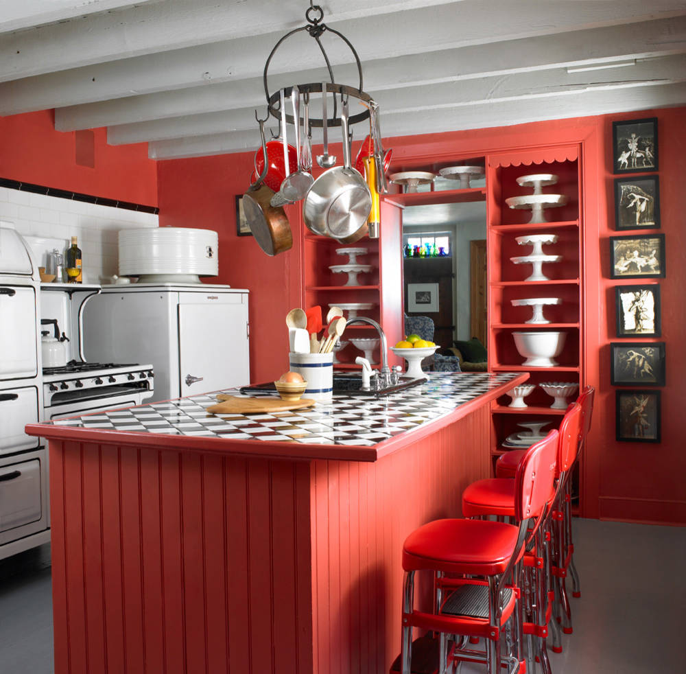 75 Beautiful Farmhouse Red Kitchen Pictures Ideas May 2021 Houzz