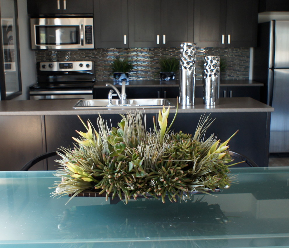 Artificial Floral Arrangements And Trees Contemporary Kitchen Ottawa By Bernacki Beaudry Design Corp