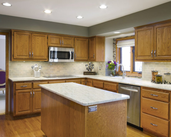 Honey Oak Cabinets Kitchen Design Ideas, Remodels & Photos