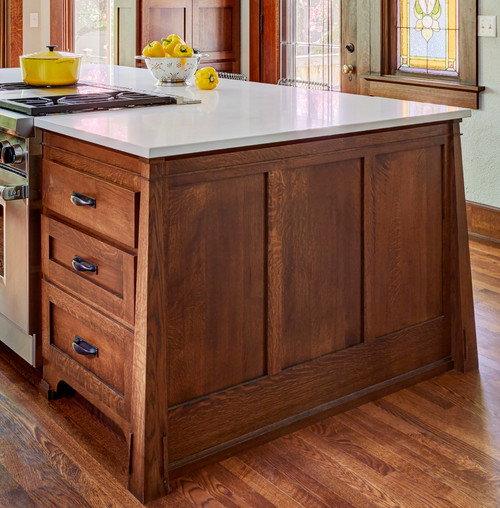 Could I Get The Type Of Wood And Stain Color Used On Kitchen Island?