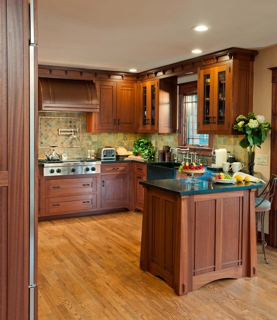 Arts U0026 Crafts Kitchen With Ellsworth Door Craftsman Kitchen