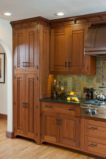 Arts & Crafts Kitchen with Ellsworth Door  kitchen