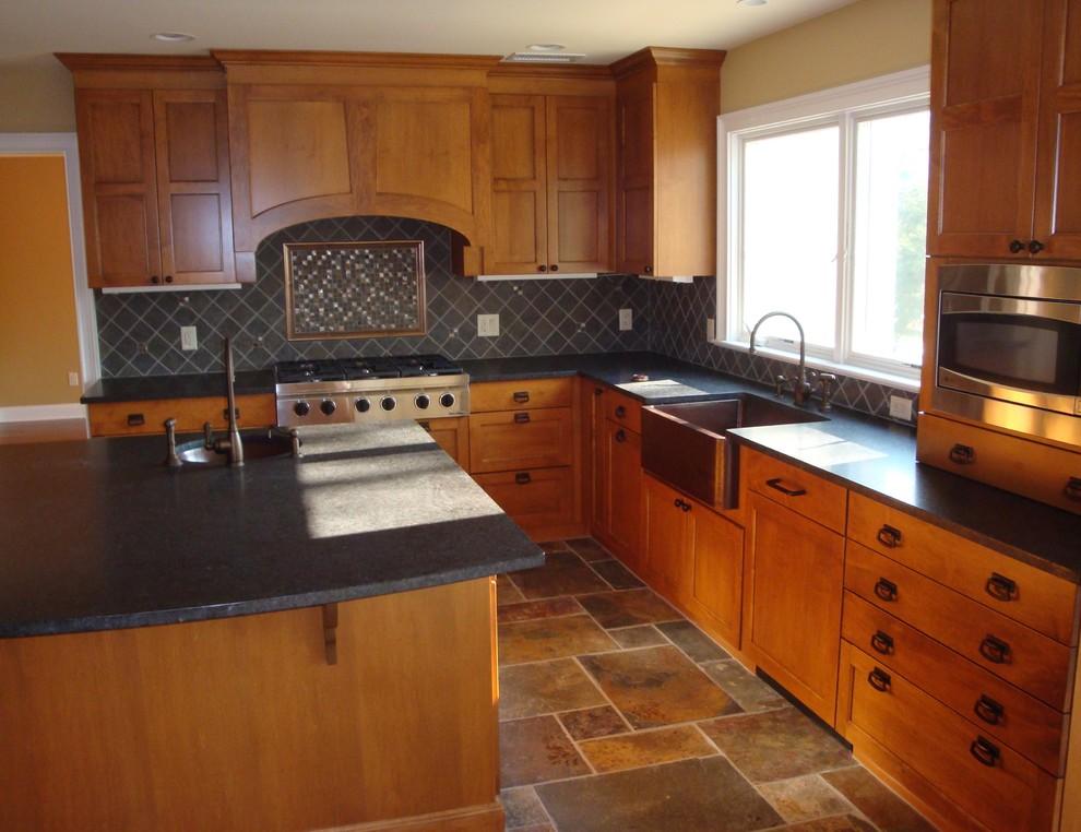 Arts & Crafts Mission Kitchen Teaneck, NJ Kitchen Maple ...