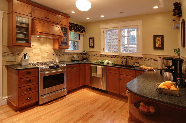 Arts & Crafts Revival traditional-kitchen