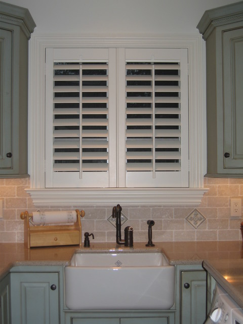 ASAP Blinds Residential Projects traditional-kitchen