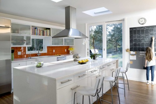 White Kitchen Orange Accents the granite gurus: whiteout wednesday: 5 white kitchens with