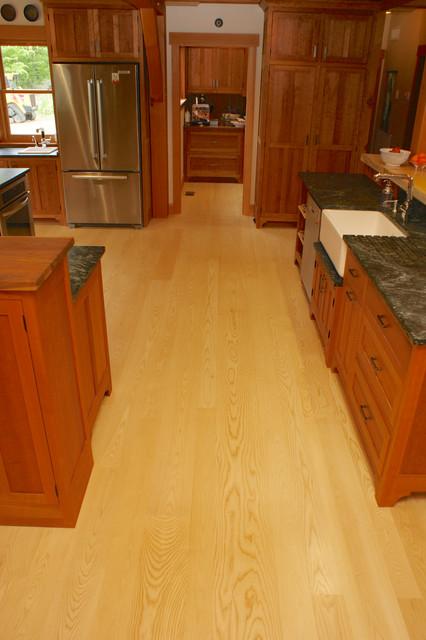Ash Wide Plank Floors - Select Grade Sapwood Only - Acadia, New Hampshire craftsman-hardwood-flooring