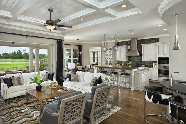 Asheville model home interior design 1264f traditional for Model home kitchen images
