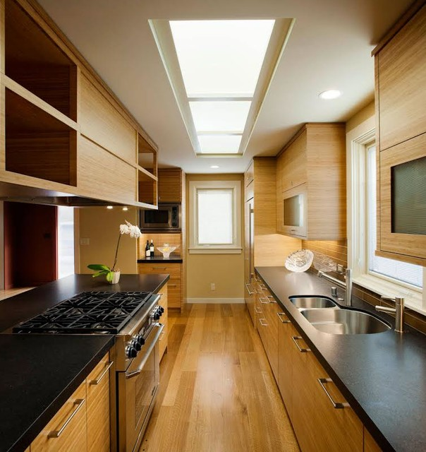 Modern Galley Kitchen Ideas: Asian Inspired Modern Kitchen Renovation