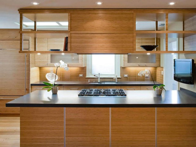Asian Inspired Modern Kitchen Renovation contemporary-kitchen
