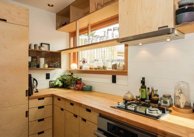 Japanese Modern ADU Tiny House For A Designer Kitchen