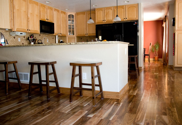 Hardwood Flooring Dealers & Installers. Asian Walnut eclectic-kitchen - Asian Walnut - Eclectic - Kitchen - Denver - By Magnus Anderson