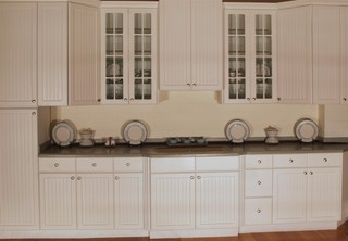 Aspen beadboard kitchen display for Beadboard kitchen cabinets for sale