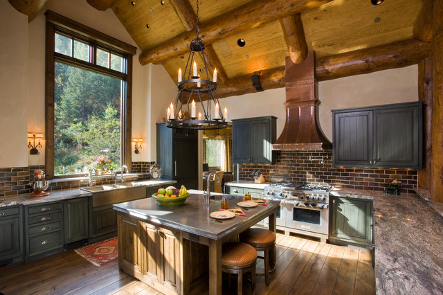 Aspen Lodge  Traditional  Kitchen  Other  by Dindy Foster