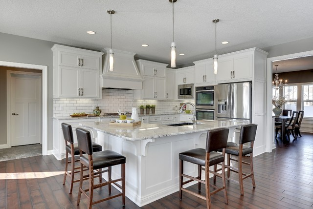 Aspen plus traditional kitchen minneapolis by nih homes