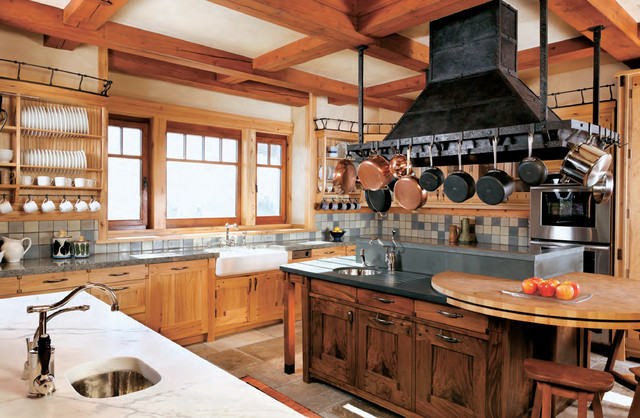 Aspen Rustic Mountain House Rustic Kitchen San