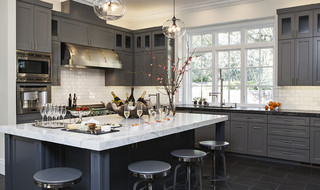 Atherton Oasis transitional-kitchen
