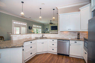 Atlanta Shaker style kitchen update: from Cherry to Off-white - Craftsman - Kitchen - Atlanta ...