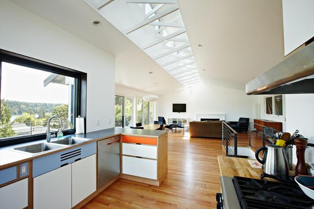 Atomic ranch midcentury kitchen seattle by graham - Atomic ranch midcentury interiors ...