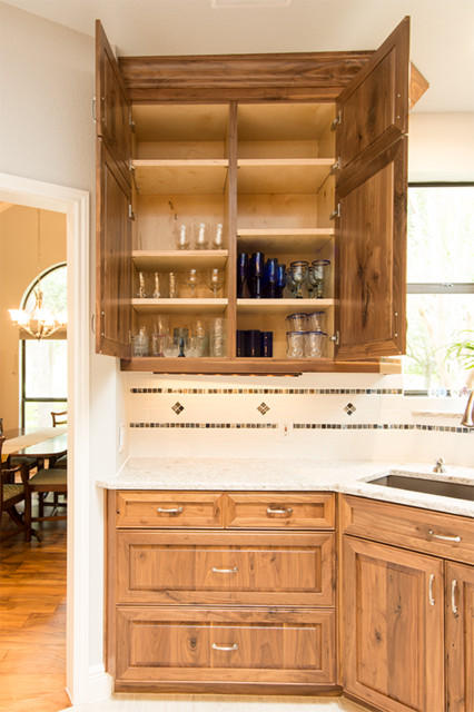 Austin Traditional Walnut Kitchen - Rustic - Kitchen - Austin - by Madison Custom Cabinets
