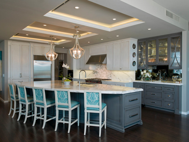Interior Designers Decorators Austonian Luxury Condo Contemporary Kitchen