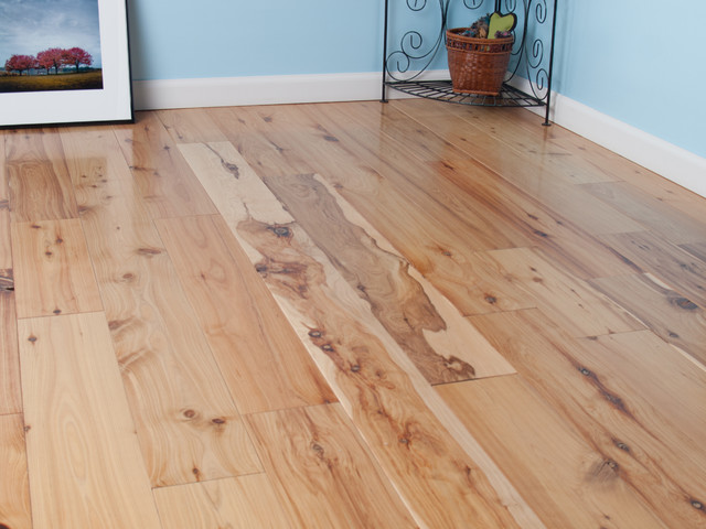 Hardwood floors in bathroom